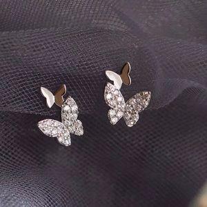 Sterling Silver 925 Butterfly 🦋 Stud Earrings